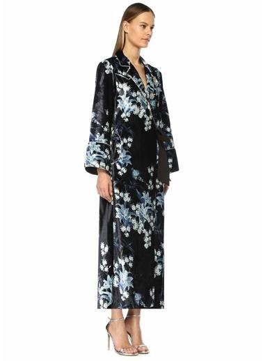 JohannaOrtiz New Sunrise Broşlu Kadife Kimono Elbise Lacivert